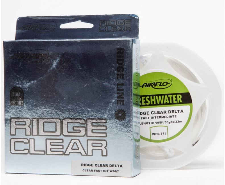 Airflo ridge clear. Veldig mange sjøørretfiskere velger denne fluelina. Hel glassline med gode egenskaper.