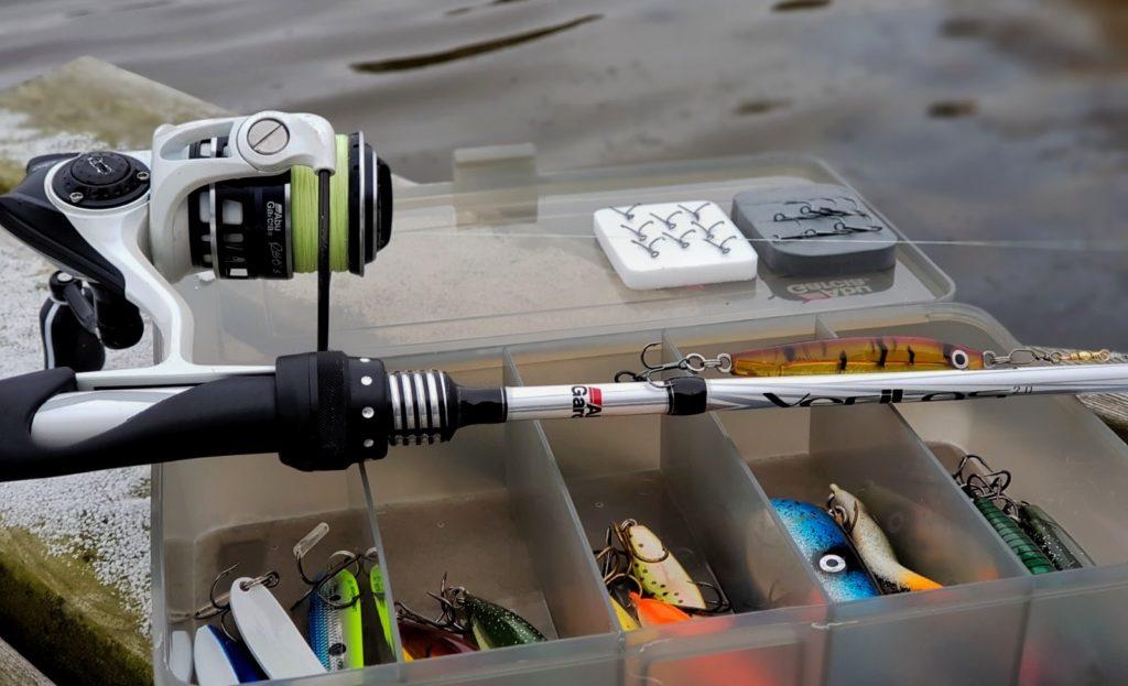 Her er mitt utstyr til sjøørretfiske.