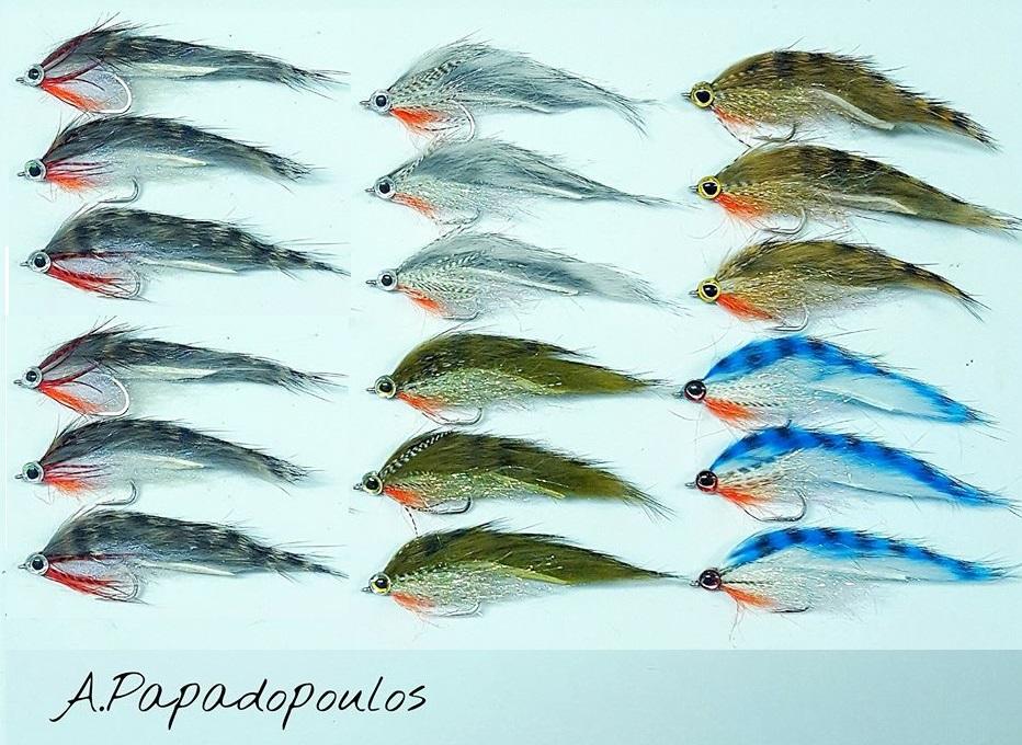 sjøørretfluer - Bindebeskrivelse Zonker Baitfish. Her vist i en mengde effektive farger.