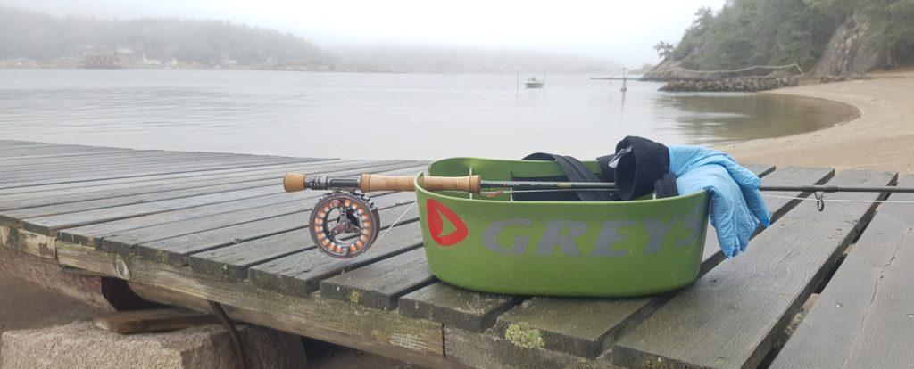 Her skal jeg fiske sjøørret om vinteren. Søndre sandøy, Hvaler.