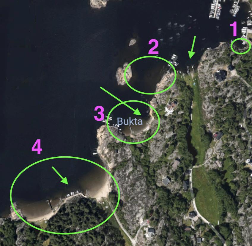 Fiske sjøørret på Hvaler. Her er et detaljert kart som viser de beste fiskeplassene.