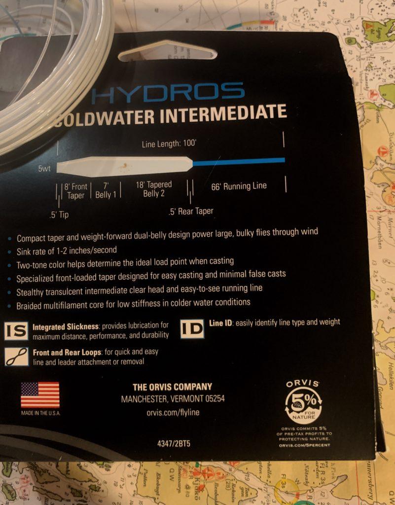 Orvis Hydros Coldwater Intermediate. Ei flott flueline til sjøørret.