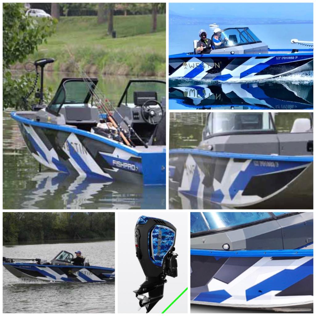 V-boats fishpro 50. Her vist I fargen blå.