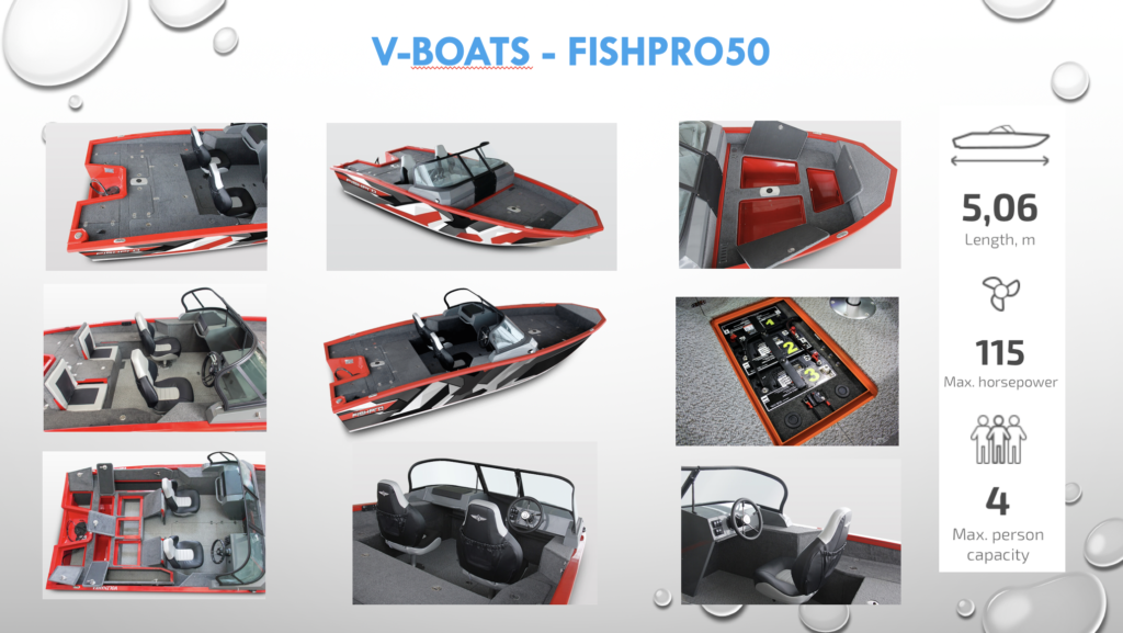 V-boats fishpro 50. Tekniske data.